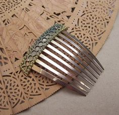 Early Victorian cut steel comb