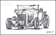 Hot Rod Drawing | 17 Best images about HOT ROD Cartoons on Pinterest | Cars, Chevy and Cartoon