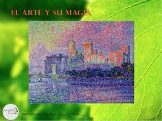 """PAUL SIGNAC: """"Le Palais des Papes, Avignon (El Palacio Papal, Avignon)"""", c.1900  - Paris, Musée d'Orsay. Junto con su maestro Georges Seurat, Paul Signac (1863-1925) es la figura clave del puntillismo. Signac amaba navegar, y viajó por toda la costa francesa, en especial por la parte mediterránea, donde creó algunas de sus composiciones más brillantes, como el ejemplo aquí mostrado. Signac fue una importante influencia para artistas posteriores, como Henri Matisse"""