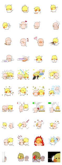 Okame-kun & pink-chan – LINE Aufkleber Kawaii Chibi, Cute Chibi, Kawaii Art, Kawaii Drawings, Cute Drawings, Cartoon Sketches, Anime Poses, Cute Doodles, Cartoon Design