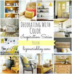 More ideas for decorating with yellow