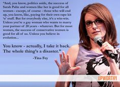 HAHA tina fey explains the importance of conservative female leaders....