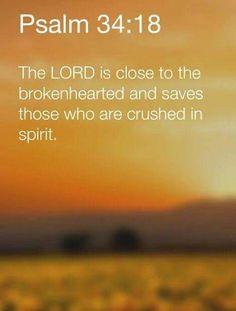 devotional english broken heart lord close