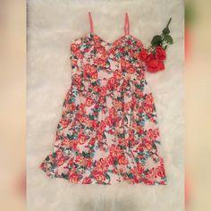White & Pink Floral Dress