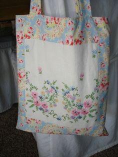 Bolsa de compra - patchwork tote bag made of old linens