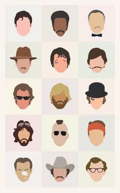 70s Movie Icons: Dudes by Mitch Frey, via Behance