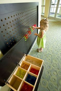 20 Interactive Wall Ideas For Kid Spaces Home Design And Interior is part of Interactive walls Kids wall is a blank canvas to accommodate all their creativity, and with creative ideas you can turn - Kindergarten Design, Interactive Walls, Church Nursery, Kids Church Rooms, Children Church, Kids Church Games, Church Design, Kids Zone, Wall Storage
