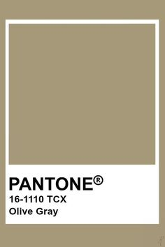 Pantone Olive Gray #color #pantone #colorpalette #colorinspiration #design