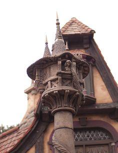 Disneyland - Fantasy Faire Rapunzel's Tower by Guy Selga, via Flickr
