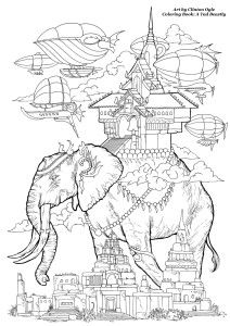 An Elephant Free Adult Coloring Page From Clinton Ogle Book A Tad Beastly