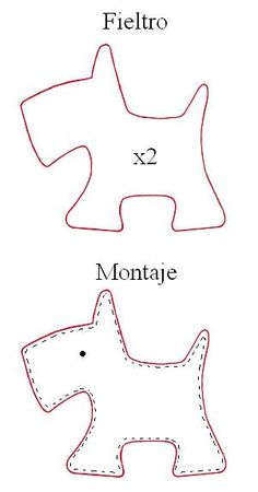 Scotty dog template- fun with felt project inspiration idea❤︎ little felt scottie dog template - cachorrobag tag Mire bordados: Perrito Use with Harry the Dirty Dog!Scotty Dog: tutor for Petit Chien.Zips and Things Felt Patterns, Applique Patterns, Sewing Patterns, Sewing Toys, Sewing Crafts, Sewing Projects, Felt Dogs, Dog Pattern, Felt Christmas
