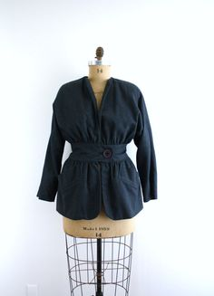 Vintage Avant Guarde Cinch Waist Jacket  by CapriciousTraveler, $62.00