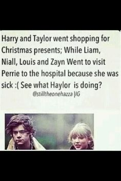 Wow Taylor just wow!!! I just can't believe it, i just hope Perrie is doing better!!!