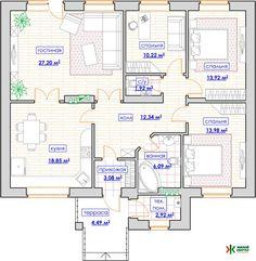 32 Ideas House Plans Bungalow Floors For 2019 The Plan, How To Plan, Bungalow Haus Design, House Design, Modern House Plans, House Floor Plans, Building Design, Building A House, 20x40 House Plans