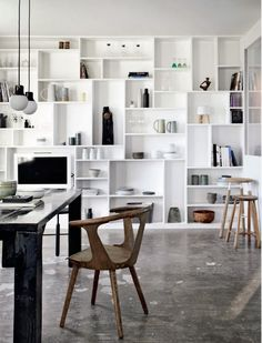 Love the gorgeous minimalist home of goldsmith and designer Marie von Lotzbeck's renovated farmhouse in North Zealand, Denmark