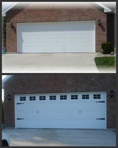 Garage door CHEAP redo Forever Decorating! Before u0026 Afters : hardboard garage door - pezcame.com