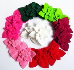 Felt Flower 56 pieces felt shapes felt die cut от PlanetaCostura
