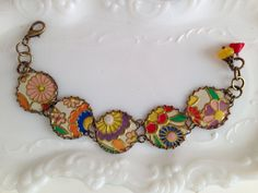 Tin Bracelet Full On Flowers Tin for the Ten Year by TheMadCutter, $41.00