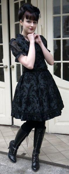 Dark blue and black sweetie dress.