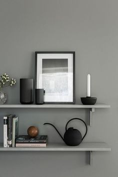 A cocoonlike Swedish home in dark grey is part of Scandinavian Home Accessories Interiors - It was a while since we headed over to the dark side here on My Scandinavian Home And with Autumn in the air, and the need for a warm, coc Gray Interior, Home Interior, Interior Styling, Interior Decorating, Decorating Ideas, Kitchen Interior, Interior Shop, Natural Interior, Interior Livingroom