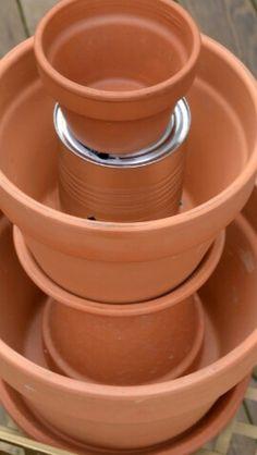Flower Pot Miniature Fairy Gardens - How to Make a Stacked Tiered Flower Pot Miniature Garden Decorated with accessories and plants. Fairy Garden Pots, Garden Yard Ideas, Garden Crafts, Diy Garden Decor, Garden Projects, Shade Garden, Succulent Gardening, Succulents Garden, Succulent Containers
