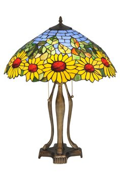 "Meyda 24""H Wild Sunflower Table Lamp"