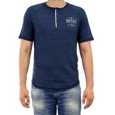 Buffalo Nadeck Raglan Henley Short Sleeve Tee Fashion T-Shirt - Mens