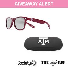 #Giveaway Alert: Win a pair of stylish #sunglasses and matching case in your favorite #college #team from @Society43 #glasses #NCAA www.thestyleref.com