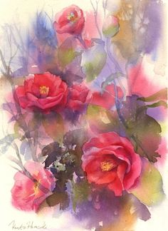#watercolor #roses.  #art