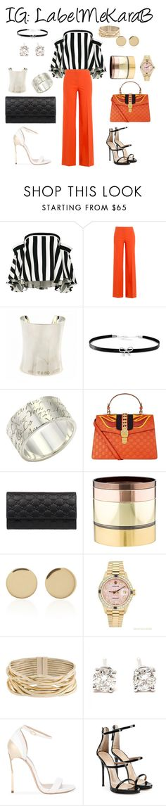 """Fun night out"" by bsharccara on Polyvore featuring Milly, Diane Von Furstenberg, Tiffany & Co., Giani Bernini, Gucci, Gemma Redux, Magdalena Frackowiak, Rolex, Rosantica and Casadei"