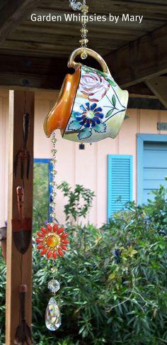 Sun Catcher Garden Dangle by GardenWhimsiesByMary on Etsy