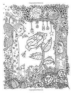 Coloring Book Pages Sheets Colour Board Fairy Land Color Me Beautiful Pregnant Lady Fantasy Patterns September 7 Drawings Life