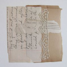 paper lace collage - vickisheehan on Etsy