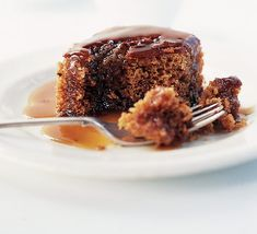Sticky toffee pudding - so incredibly yummy! For the sauce, just use 1/2 cup each light brown sugar, butter, and cream.