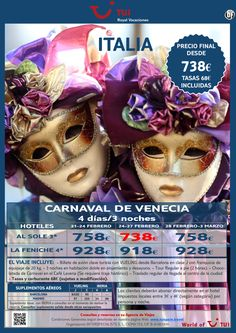 Italia Carnaval de Venecia. Precio final desde 738€ ultimo minuto - http://zocotours.com/italia-carnaval-de-venecia-precio-final-desde-738e-ultimo-minuto/