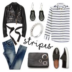 """""""One Direction: Striped Shirts"""" by littlehjewelry ❤ liked on Polyvore featuring Preen, stripes, contestentry, pearljewelry and littlehjewelry"""