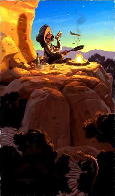 Jim Madsen illustration: Mexican Campfire 3