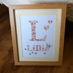 Personalised children's name papercuts from £12