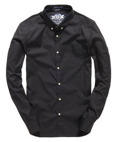 Superdry Premium Button Down Shirt Black
