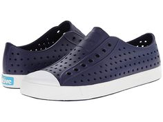 Native Shoes Jefferson Regatta BlueShell White Shoes Native Shoes has partnered with Zappos for Good to collect your wellloved Native Shoes and recycle them into communit. Foot Odor, Native Shoes, Thing 1, Size 6 Women, Wide Feet, Water Shoes, New Kids, Slip On Shoes, Footwear