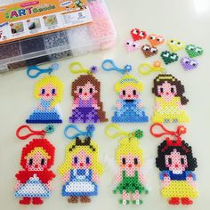Disney Princess perler beads by yonabbong
