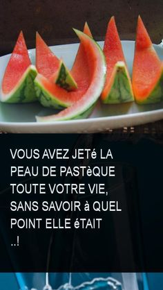 Vous avez jeté la peau de pastèque toute votre vie, sans savoir à quel point elle était ..! #Eau #Peau #Savoir #Vie #Jete #Ete Le Point, Cantaloupe, Smoothies, Watermelon, Vegan Recipes, Food And Drink, Organic, Fruit, Drinks
