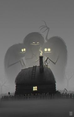 Twilight - 2 hour digital painting by concept artist Denis Zilber Arte Horror, Horror Art, Denis Zilber, Art Et Illustration, Art Illustrations, Monster Illustration, Halloween Illustration, Creepy Art, Scary