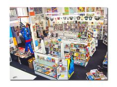 """Meltdown Comics- Known as the """"Largest Comic Book Store in the West Coast,"""" at 9,000 sq. ft. of Comics Books, Graphic Novels, Books, Toys, Statues, and Collectibles is a unique location in Los Angeles for film, television, video and photo shoots. Store pictures can be found here. Inquire about location rental here. The MELTDOWN ANNEX at an extra 1,500 next to Meltdown, Inc. space also available."""