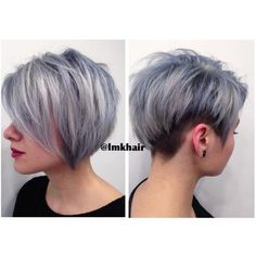 Steely silver and blue textured undercut.