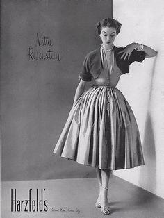 1952 Harzfeld's fashion ad