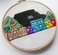 Cape town in progress  .  .  .    #faimy #embroidery #etsysellersofinstagram #etsyshop #etsy #embroidery #embroidered #sketch #embroideryhoopart #embroiderydesign #embroideryhoop #illustration #embroiderersofinstagram #embroideryartist #embroideryart #city  #landscape #hoopart #needlecraft #needlework #capetown #capetownlife #tablemountain #DifferenceMakesUs