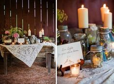 Country & Rustic Wedding Table Inpsiration