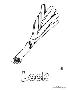 Welcome To Vegetable Coloring Pages Enjoy The Leek Page On Hellokids