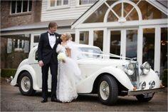 Such an amazing wedding car! Bridal gown by Skarr Bridal